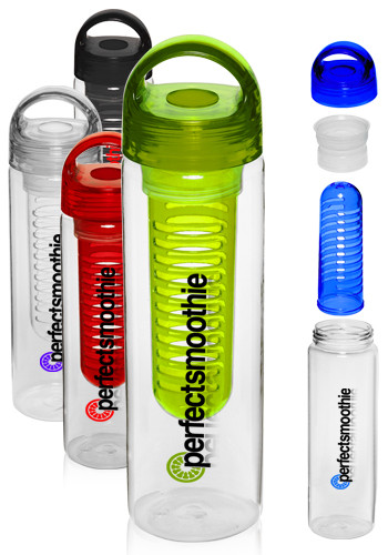 Customized 25 oz. Infusion Water Bottles with Twist Lid