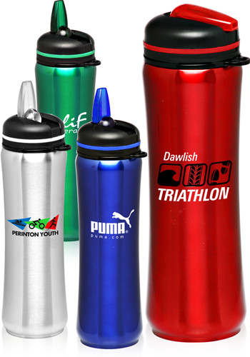 27.5oz. Slim Stainless Steel Sports Bottles