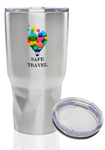 Stainless Steel Tumblers with Clear Lids