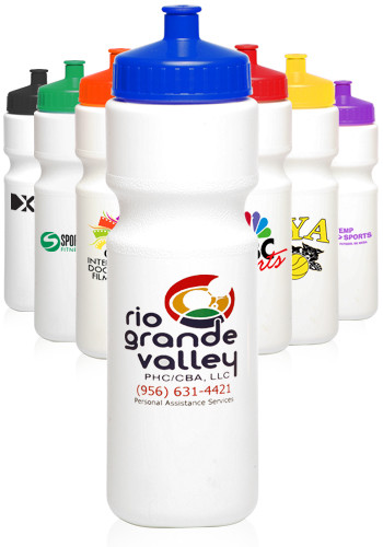 Plastic Water Bottles with Push Cap