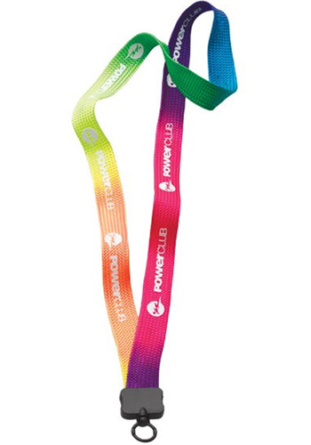 34 Tie Dye Multicolor Lanyard with O-ring Attachment  | SULT34P