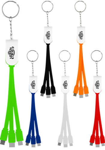3-In-1 Keychain Swivel Cable with Type C Usb | ASCPP4477