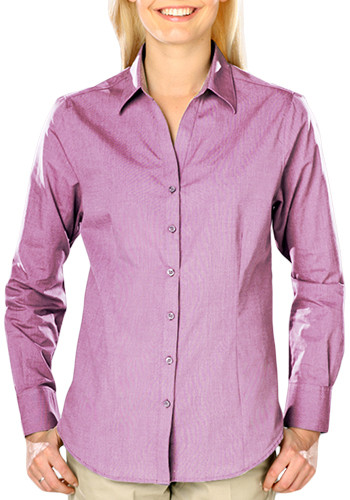 Blue Generation Ladies Long Sleeve Crossweave Dress Shirts | BGEN6215