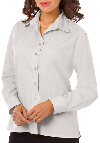 Blue Generation Ladies Long Sleeve Poplin Dress Shirts | BGEN6210
