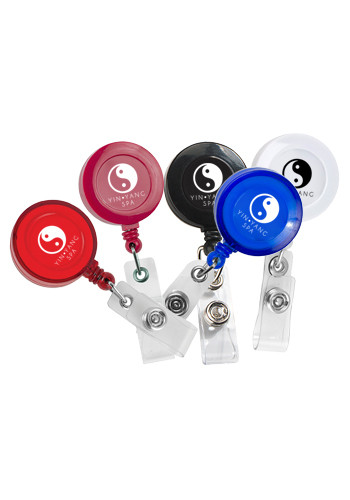 30 Inch Cord Round Retractable Badge Reel with Metal Slip Clip | IVRBRD