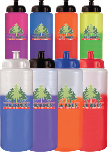 32 oz. Mood Sports Bottles with Push 'N Pull Cap | AK8067551