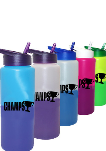 32 oz. Mood Sports Bottles with Straw Cap Lid | AK67559