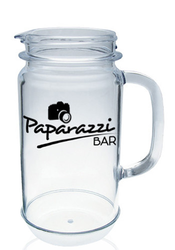 Personalized 32 oz. Plastic Mason Jar Pitchers