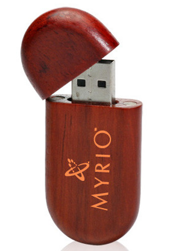 Personalized 32GB Oval Wood Flash Drives