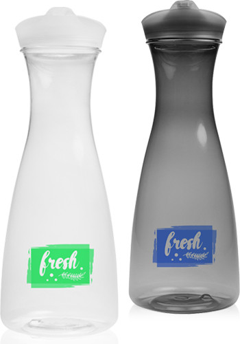 Custom 34 oz. Clear Plastic Carafes with Lid