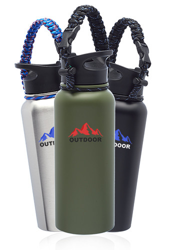 34 oz. Vulcan Stainless Steel Water Bottles with Strap | WB329