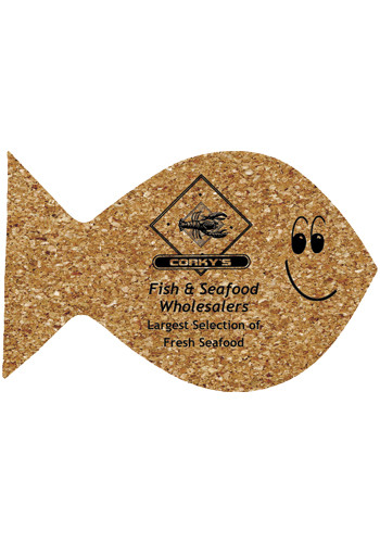 6 inch King Size Cork Fish Coasters | AM5XFH