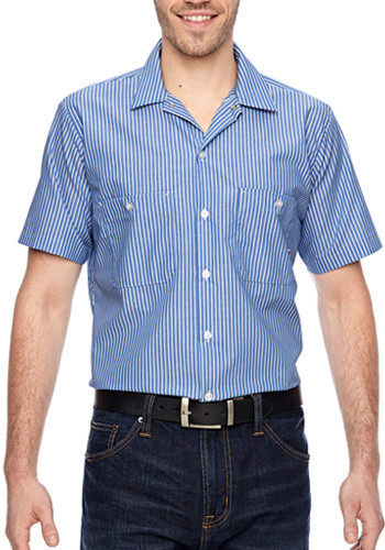 Dickies Men's Short Sleeve Industrial Poplin Work Shirts | LS535