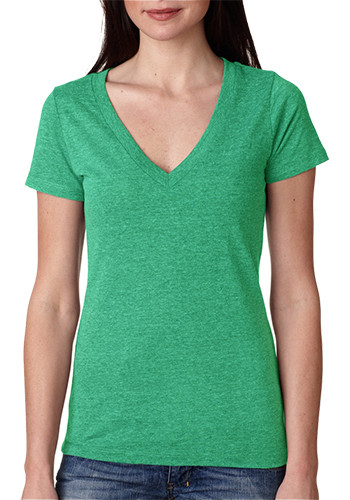 Next Level Ladies Tri-Blend Deep V Tees |  NL6740