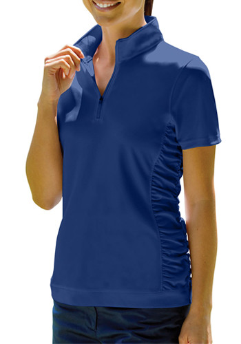 Vansport Women's Omega Ruched Polo Shirts | 2611