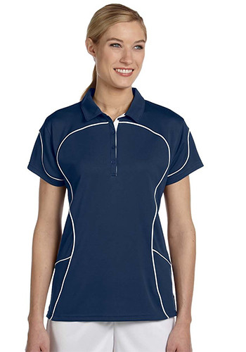 Russell Women's Contrast Piping Athletic Polo Shirts | 434CFX