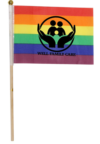 4 inch x 6 inch Rainbow Cloth Flags | WCNOV274