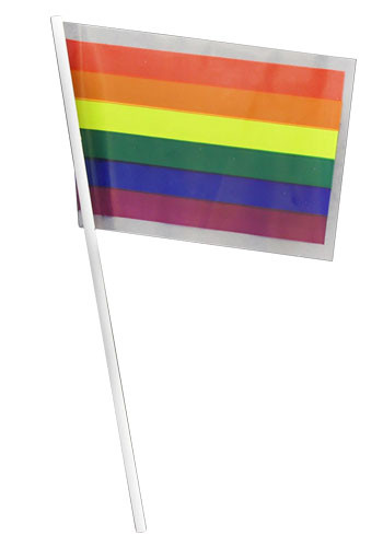Rainbow Plastic Flags