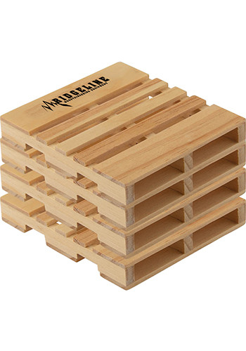 4-Pack Pallet Coasters | IL1678
