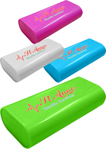 Personalized 4400mAH Plastic Power Banks With Flashlight