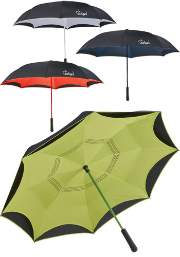 46 Inch Colorized Manual Inversion Umbrellas   LE205066