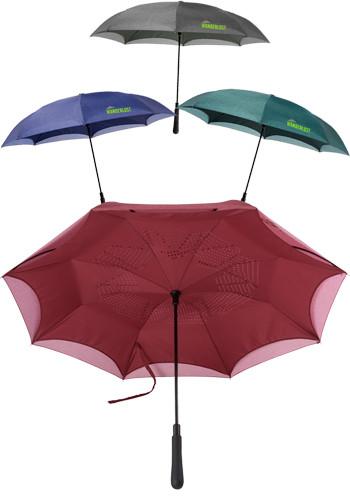 48 In. Auto Close Heathered Inversion Umbrellas | LE205094