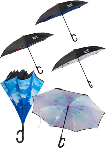 48 Inch Auto Open Designer Inversion Umbrellas | LE205079
