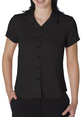 Cubavera Ladies Short Sleeve Bedford Cord Camp Shirts | CW407