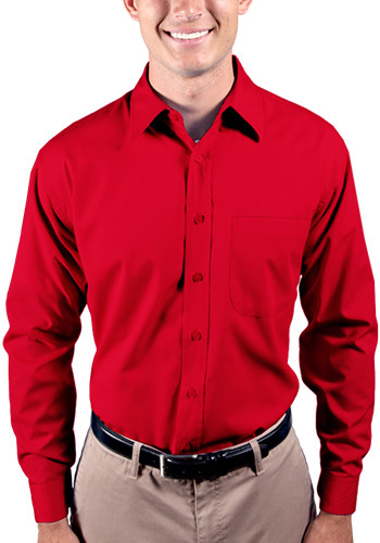 Blue Generation Men's Long Sleeve Tall Poplin Shirts with Matching Buttons | BGEN7266T