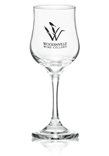 printed 5 5 oz  tulip wine glasses