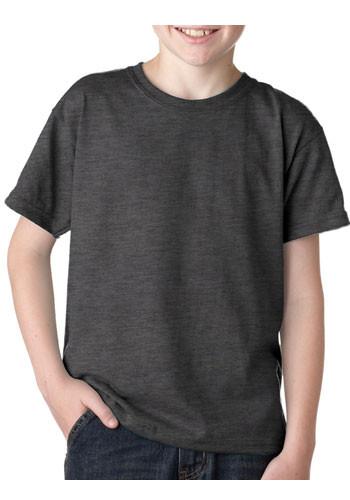 Printed gildan dryblend youth t shirts g8000b discountmugs for Poly blend t shirts wholesale