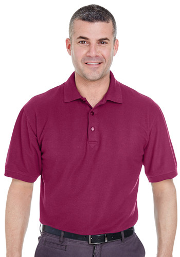 UltraClub Men's Whisper Piqué Polo Shirts | 8540