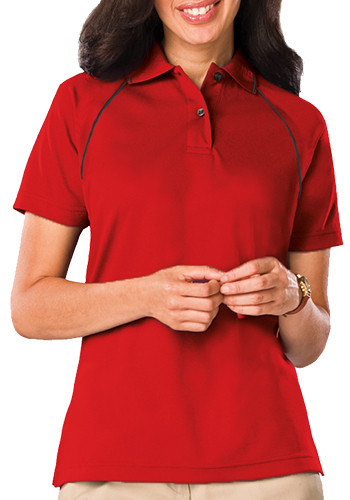 Blue Generation Ladies Polo Shirts with Contrast Piping | BGEN6220