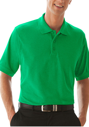 Men's Soft-Blend Double-Tuck Polo Shirts | 2100M