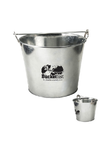 Bulk 5 Qt Galvanized Ice Buckets With Bottle Opener