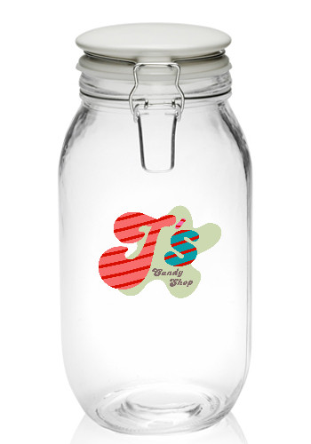 51 oz. Elrow Clip Top Glass Storage Jars | CAN20