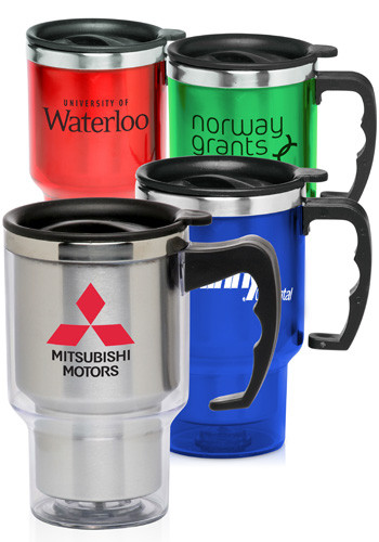 #DM69 14oz Travel Mugs with handles
