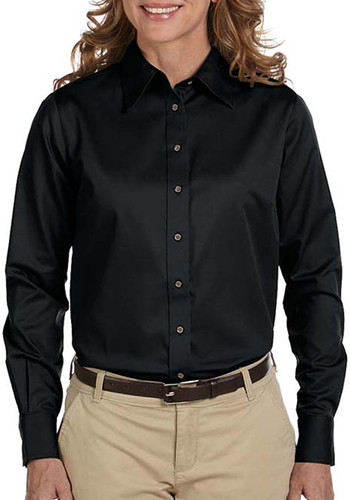 Harriton Ladies' Stain-Release Long-Sleeve Shirts | M500W