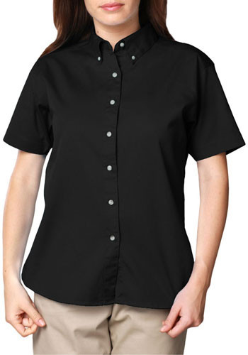 Blue Generation Ladies Short Sleeve Signature Twill Dress Shirts   BGEN6213S
