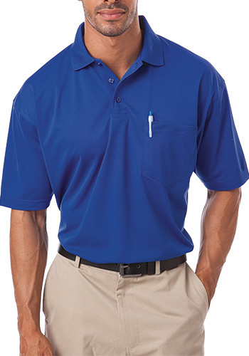 Blue Generation Adult Pocketed Il-50 Polo Shirts | BGEN1052