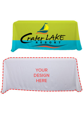 Customized 6 ft. Dye-Sublimated Economy Table Throws