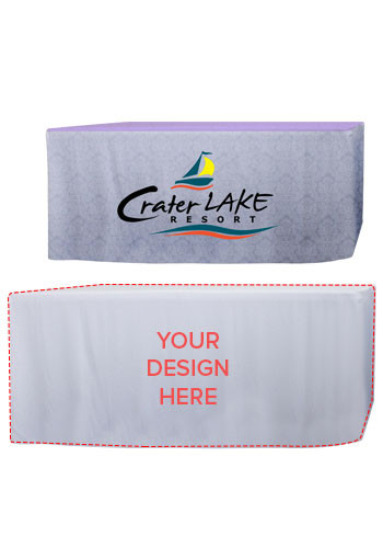 Promotional 6 ft. Dye-Sublimated Fitted Table Throws