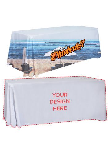 Personalized 6 ft. Dye-Sublimated Standard Table Throws