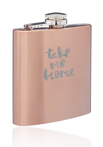 Personalized 6 oz. Copper Coated Hip Flasks