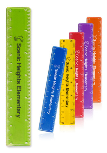 Promotional 6 in. Color Plastic Rulers