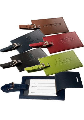 Bulk Rectangle Leather Luggage Tags
