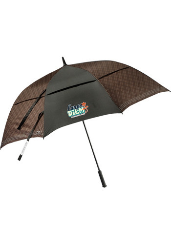 64 Inch Cutter and Buck Plaid Golf Umbrellas   LE205083