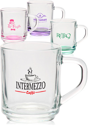 Engraved Glass Coffee Mugs