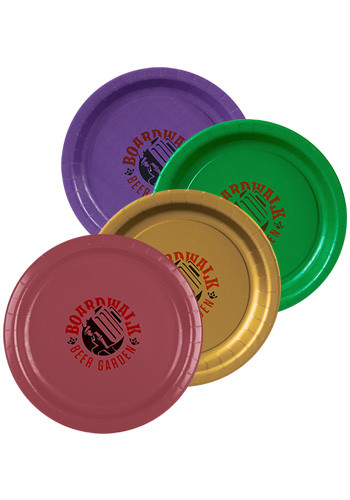 Promotional 7 Inch Colored Paper Plates