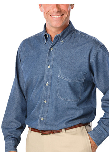 Blue Generation Men's Long Sleeve Premium Denim Shirts | BGEN8206